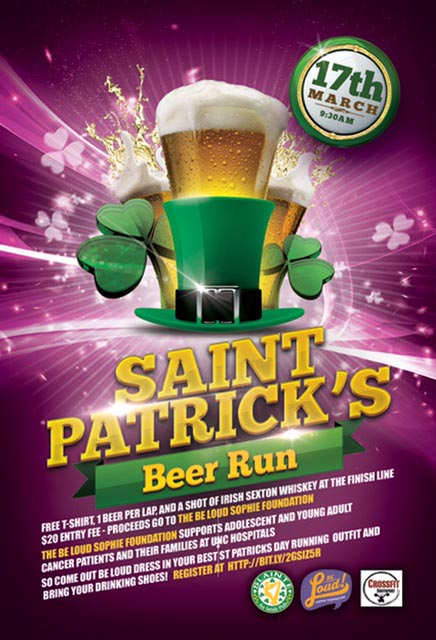 saint patrick's day beer run flyer